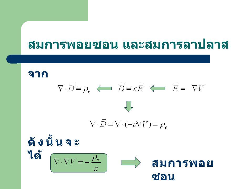 สมการพอยซอน และสมการลาปลาส จาก ดังนั้นจะ ได้ สมการพอย ซอน