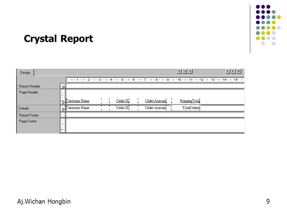 Aj.Wichan Hongbin9 Crystal Report