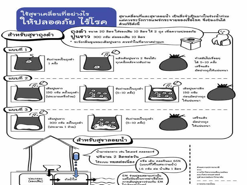 สถานการณ์พฤติกรรมของคนไทยใน สถานการณ์น้ำท่วม 1.