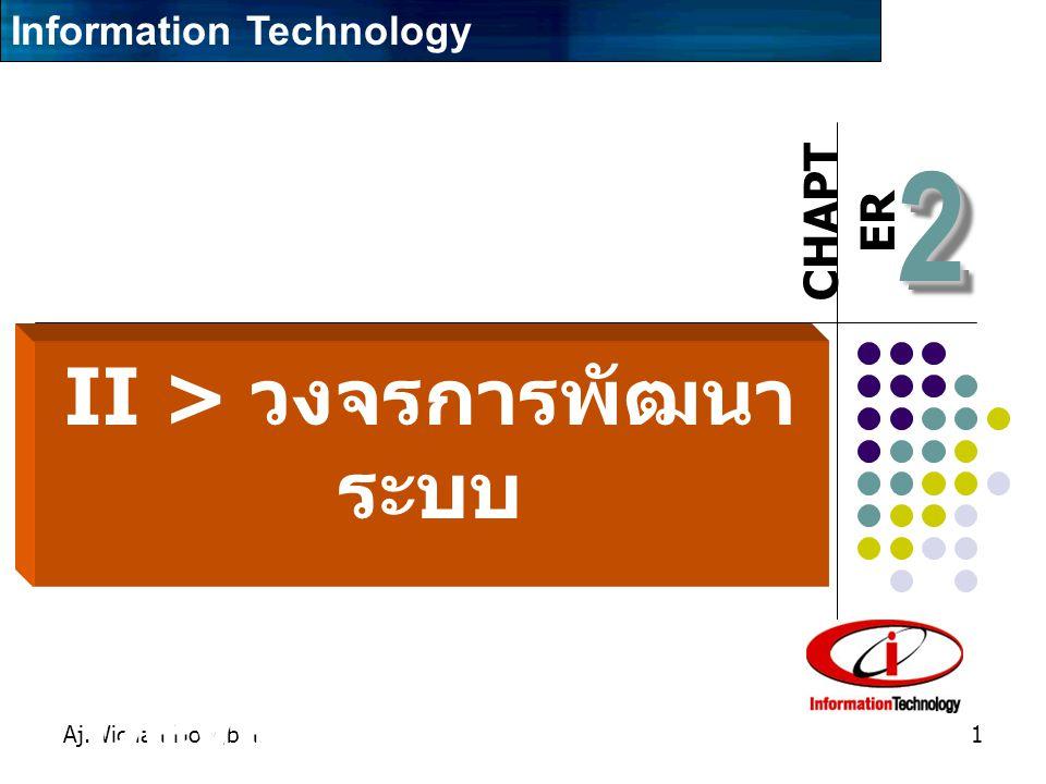 CHAPT ER Aj.Wichan Hongbin1 22 II > วงจรการพัฒนา ระบบ (System Development Life Cycle) Information Technology