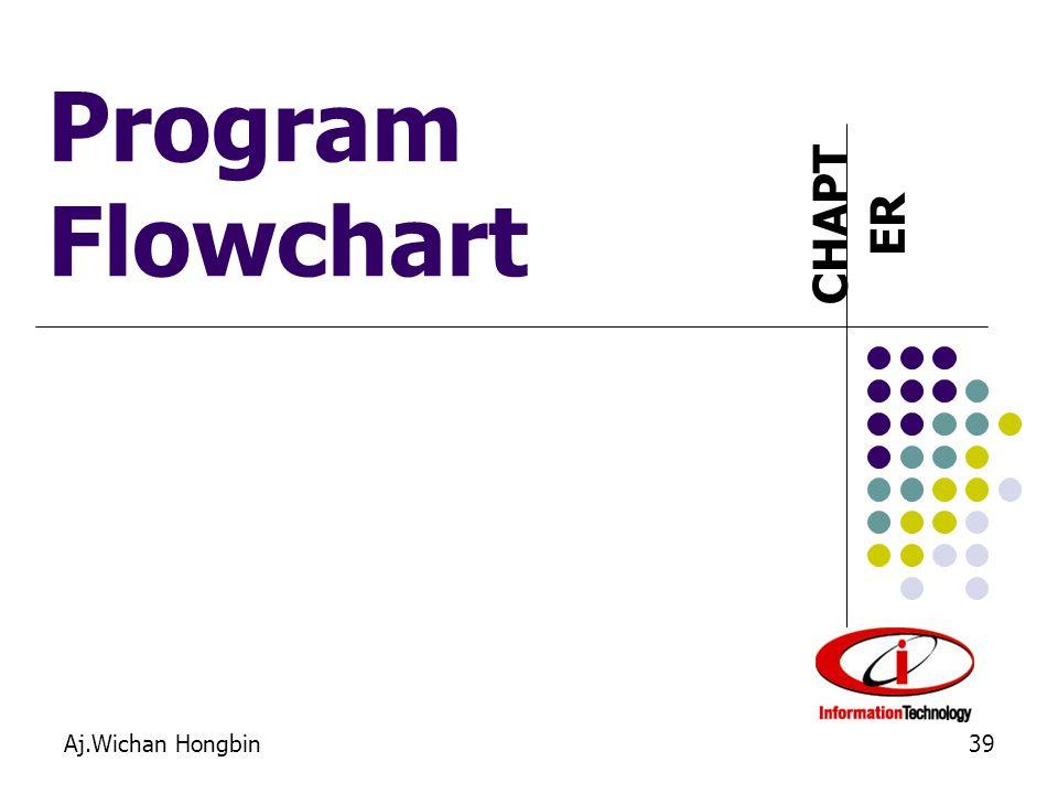 CHAPT ER Aj.Wichan Hongbin39 Program Flowchart