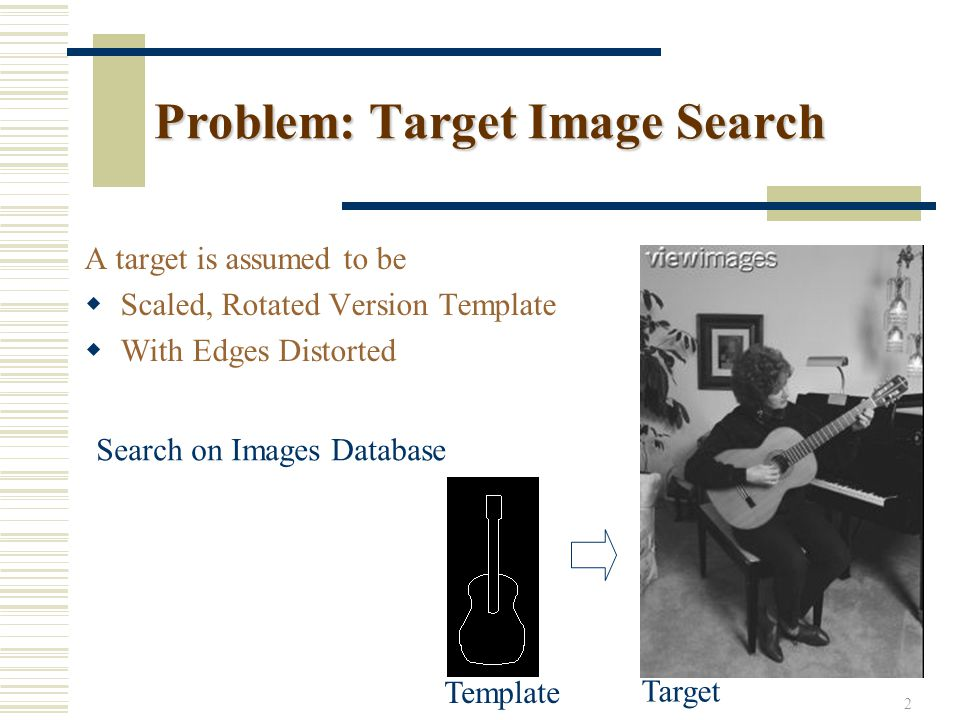 13 Experiment on Image Search TemplateTarget Edge MapThe Best MatchHough Space