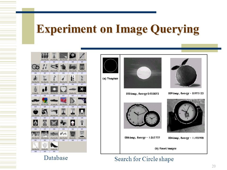 20 Experiment on Image Querying Database Search for Circle shape
