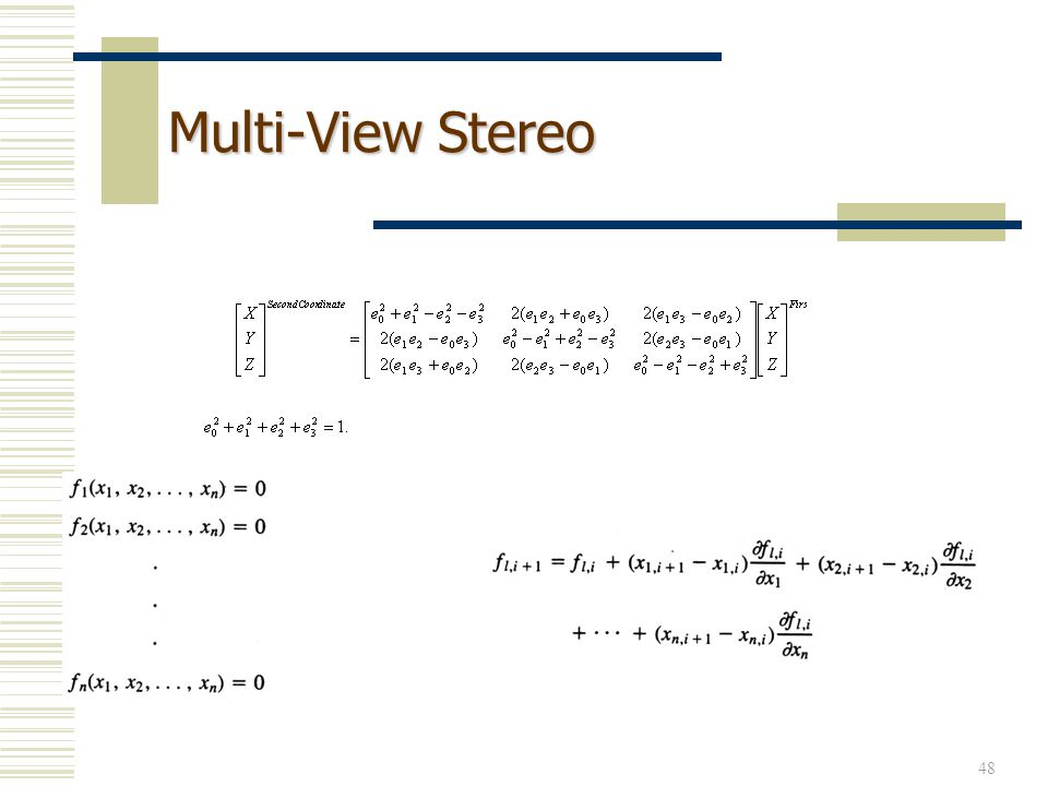 48 Multi-View Stereo