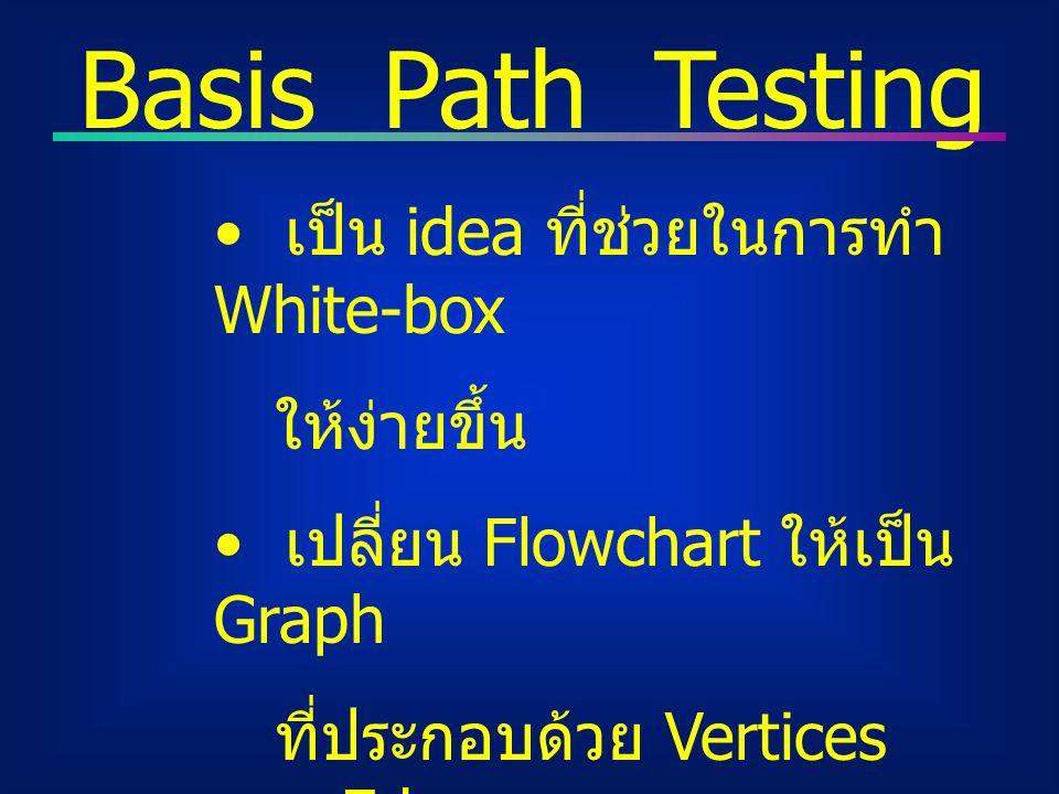 Statistical Testing ออกแบบการ Testing เพื่อ สะท้อนให้เห็นถึงปริมาณ Actual inputs/outputs รวมถึงแสดงการประมาณค่า น่าเชื่อถือของระบบที่อาจ เป็นไปได้