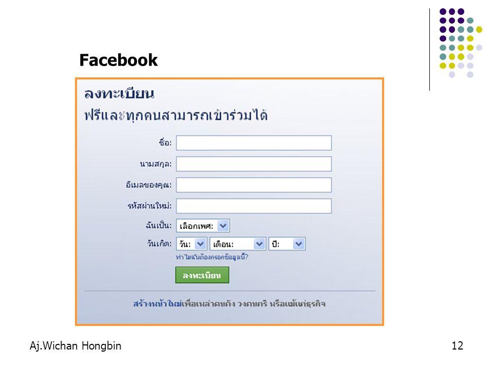 Aj.Wichan Hongbin12 Facebook