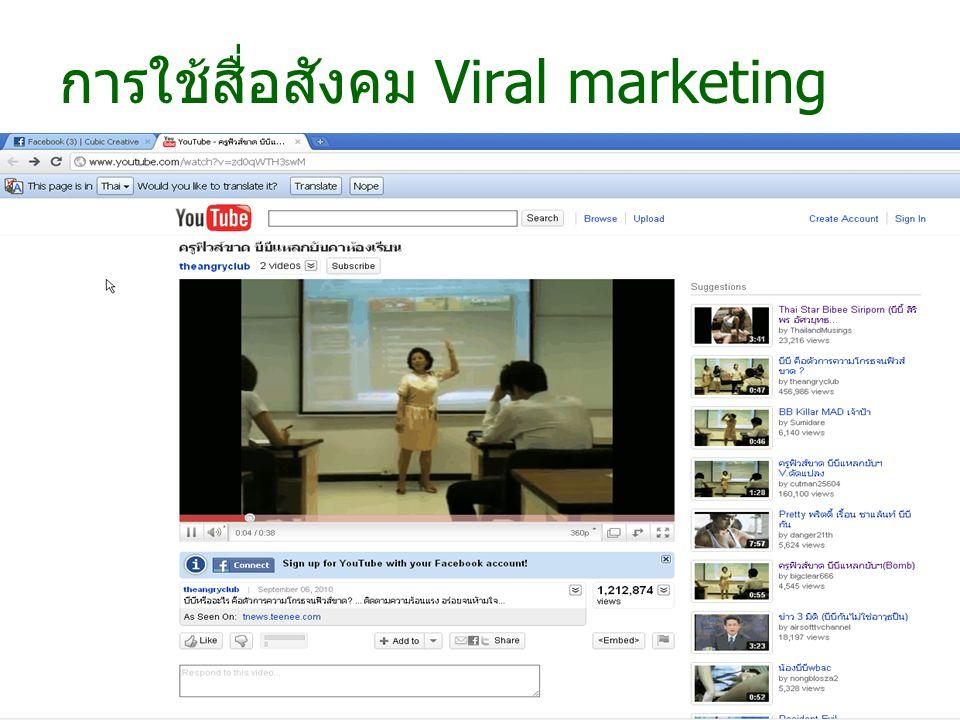 การใช้สื่อสังคม Viral marketing