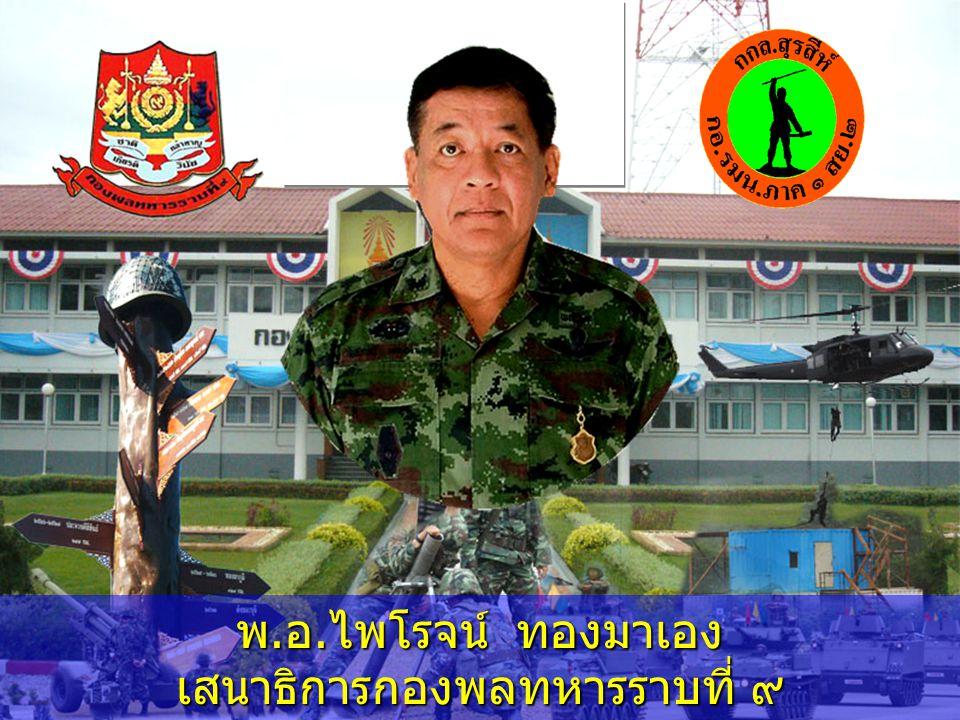 พ. อ. เรืองศักดิ์ อรรคทิมากูล รองเสนาธิการกองพลทหารราบที่ ๙ ( ๑ )