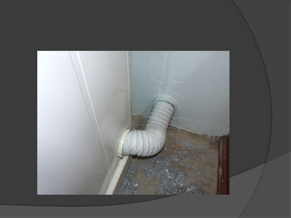 3. ต่อท่อออกด้านนอก มีถังพลาสติก เจาะเป็นรูใส่ท่อรองรับอยู่