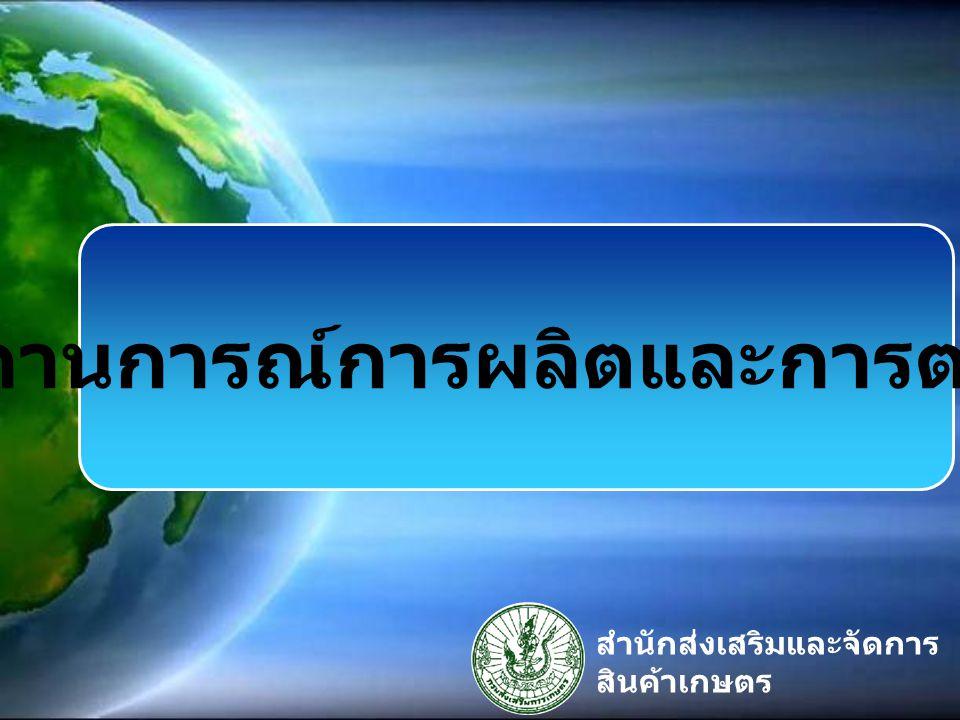 1.ประเทศไทยส่งออก อันดับ ๑ ของโลก 2. พื้นที่เก็บเกี่ยว ๖ แสนไร่ / ปี 3.