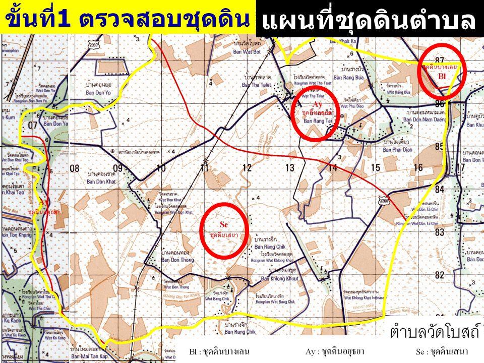 แผนที่ชุดดินตำบล ขั้นที่1 ตรวจสอบชุดดิน