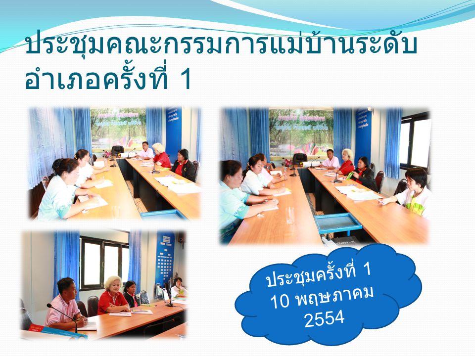 ประชุมคณะกรรมการแม่บ้านระดับ อำเภอครั้งที่ 2 ครั้งที่ 2 19 พฤษภาคม 2554