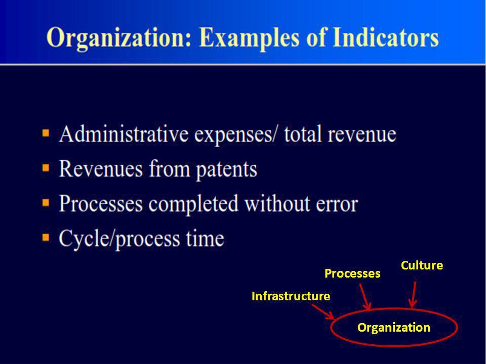 Organization Infrastructure Processes Culture