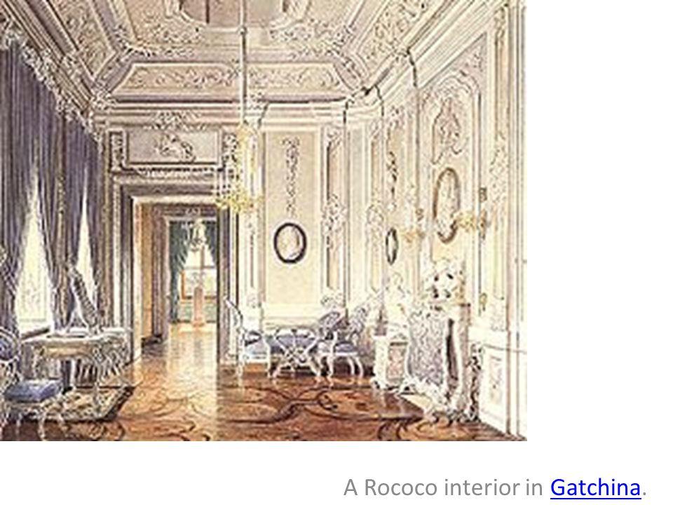 A Rococo interior in Gatchina.Gatchina