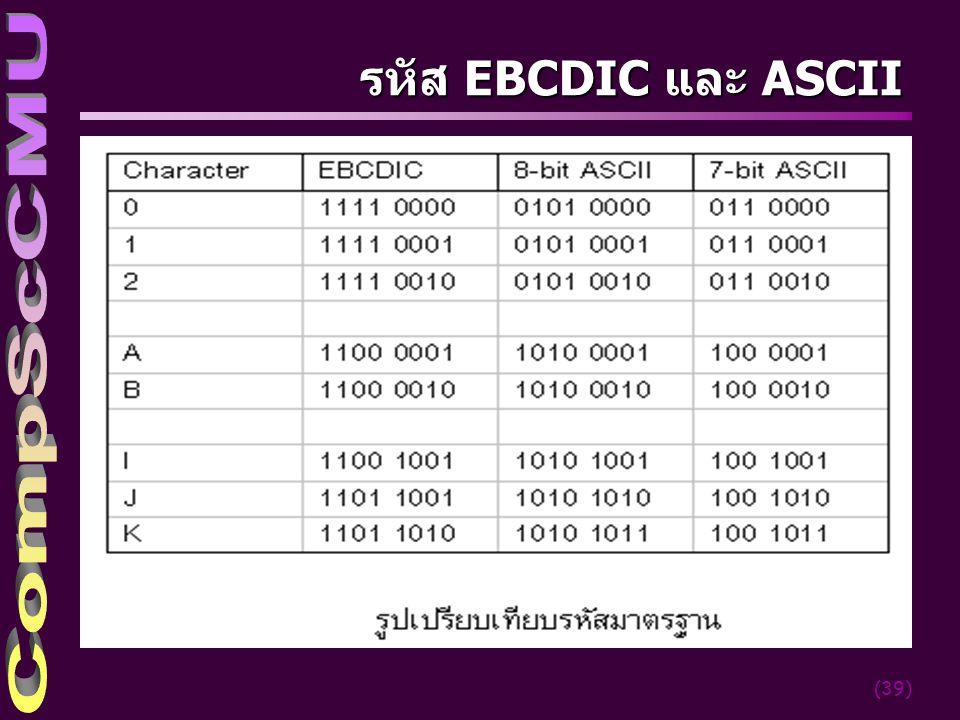 (39) รหัส EBCDIC และ ASCII