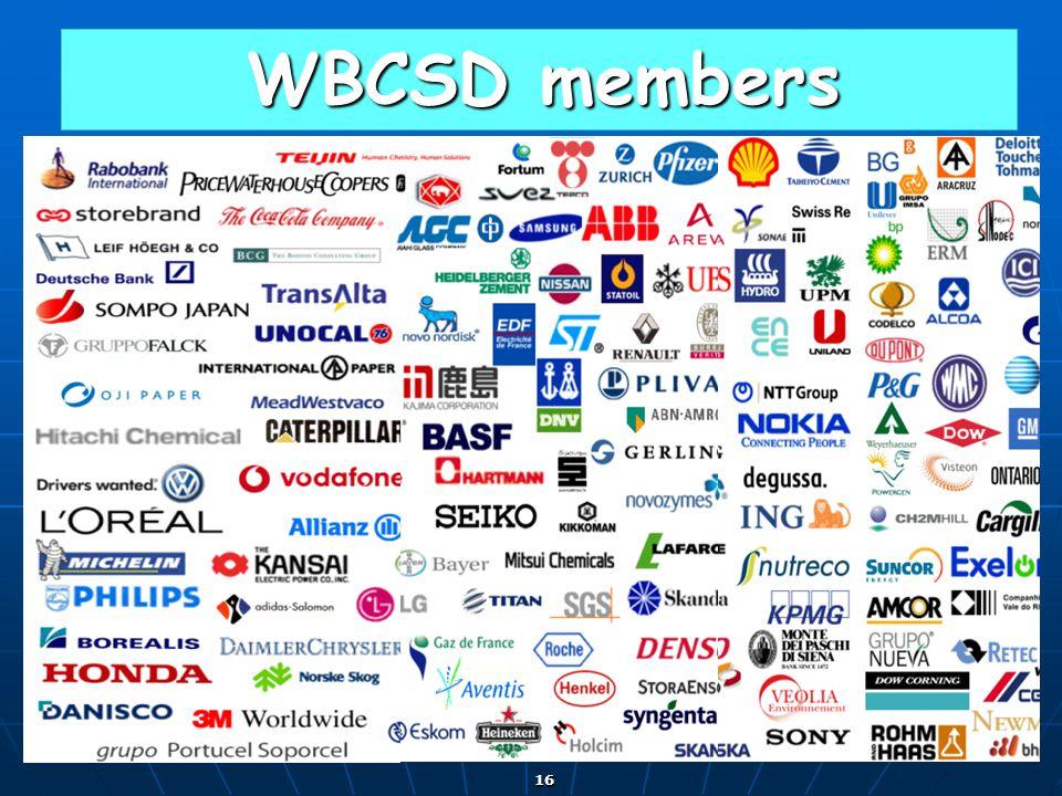 16 WBCSD members