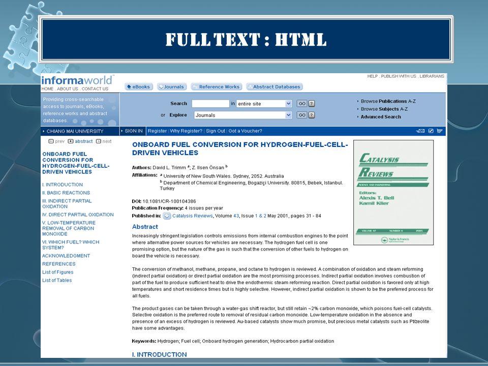 Full Text : HTML
