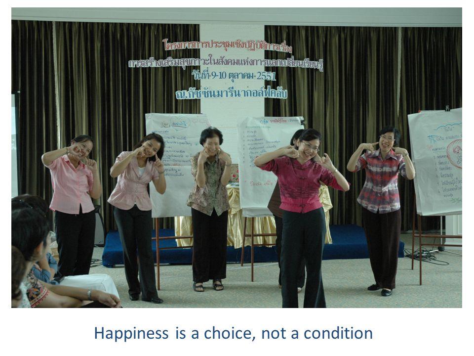 8/21/2014 สุธี ฮั่นตระกูล Happiness is a choice, not a condition