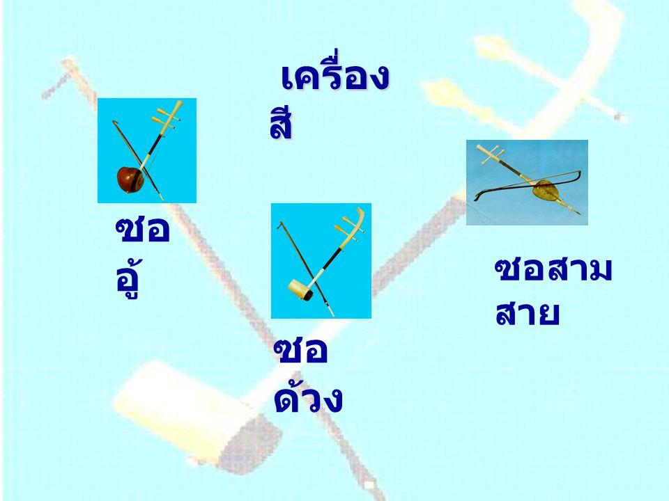 เครื่อง สี ซอ อู้ ซอ ด้วง ซอสาม สาย