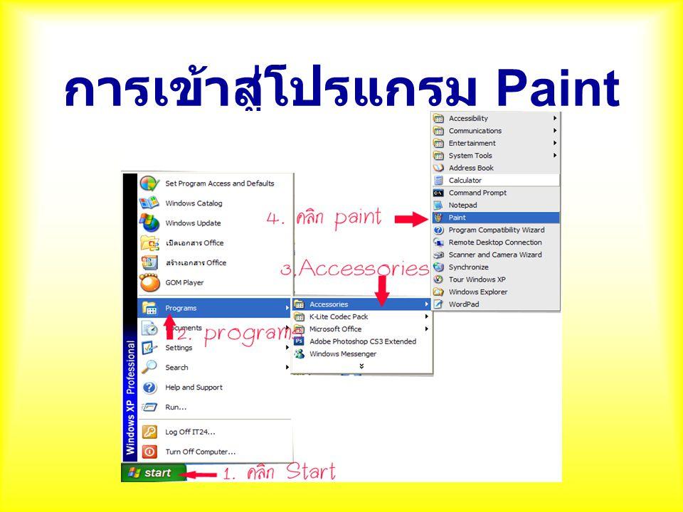 Paint หรือ PaintBrush คือโปรแกรม อะไร 180 A.โปรแกรมสร้างหนัง B.