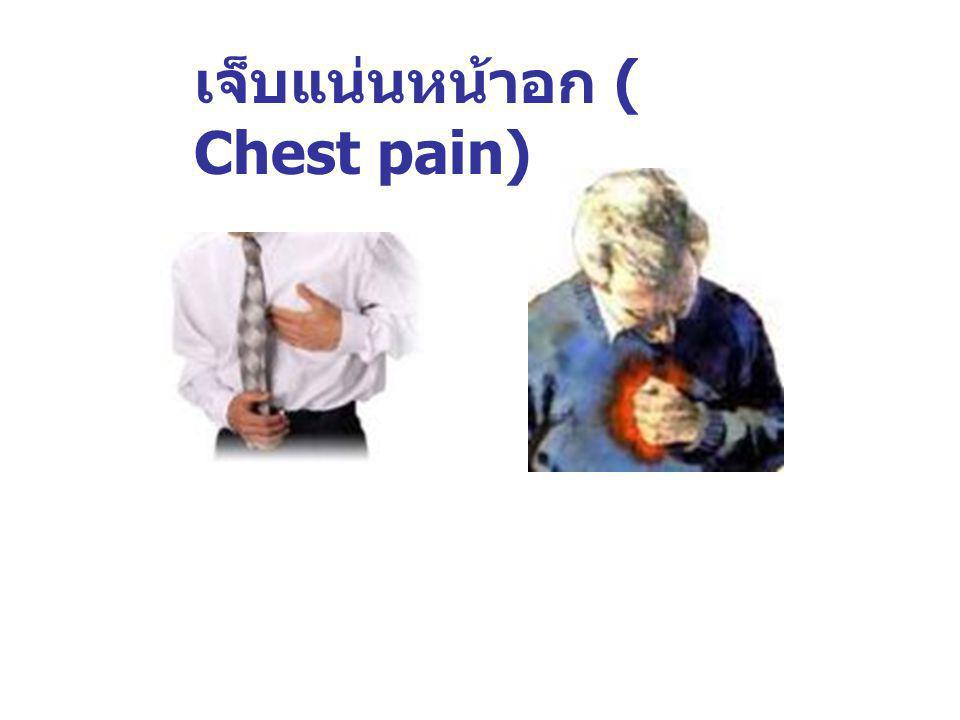 เจ็บแน่นหน้าอก ( Chest pain)