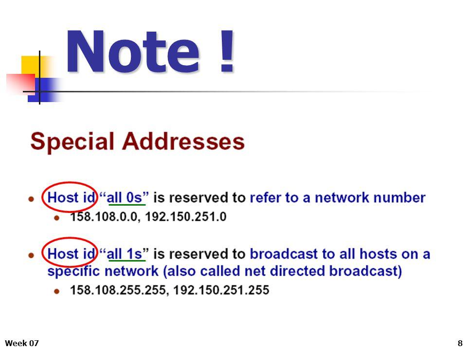 Week 079 IPv4 แบ่งออกเป็น 5 Class ดังนี้ IP Address และจำนวนโฮสในแต่ละ Class เหตุผลของการแบ่ง Class คือเพื่อให้ง่ายต่อการจัดสรร