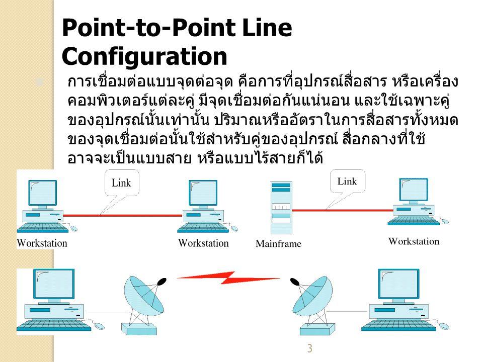 14 Ring Topology ลักษณะการเชื่อมต่อแบบ Ring เป็นการเชื่อมต่อแบบ จุดต่อจุด (point-to-point) ประเภทหนึ่ง แต่เป็นการ เชื่อมต่อแบบจุดต่อจุดที่ทำการเชื่อมต่อกับโหนดอื่นๆ สองโหนดเท่านั้น คือโหนดที่อยู่ก่อนหน้า และโหนดที่ อยู่ถัดไป การสื่อสารข้อมูลในเครือข่ายทำได้โดยการส่งข้อมูล ผ่านโหนดต่างๆในเครือข่ายในทิศทางเดียวจนกระทั่ง ถึงผู้รับ แต่ละโหนดใน Ring ทำหน้าที่เหมือนกับเป็น Repeater คือเมื่อข้อมูลที่ได้รับเข้ามา เป็นข้อมูลของ โหนดอื่น ก็จะทำถ่ายทอดการส่งข้อมูลนั้นผ่านออกไป ยังโหนดถัดไป