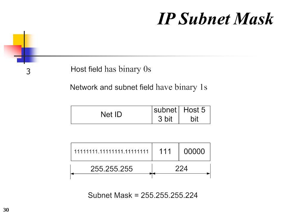 30 IP Subnet Mask 3