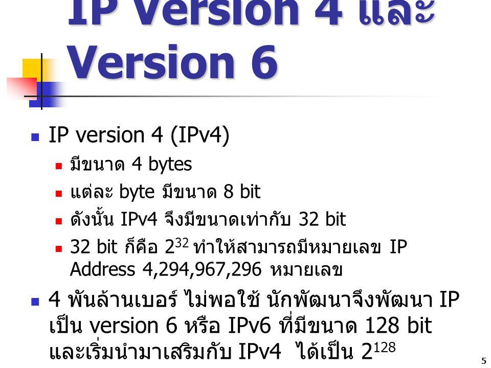 6 ส่วนประกอบของ IP Address