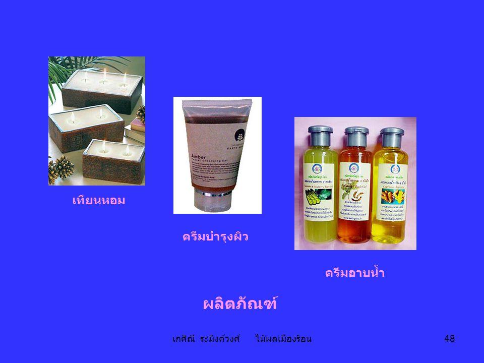 เกศิณี ระมิงค์วงศ์ ไม้ผลเมืองร้อน 48 ผลิตภัณฑ์ เทียนหอม ครีมบำรุงผิว ครีมอาบน้ำ