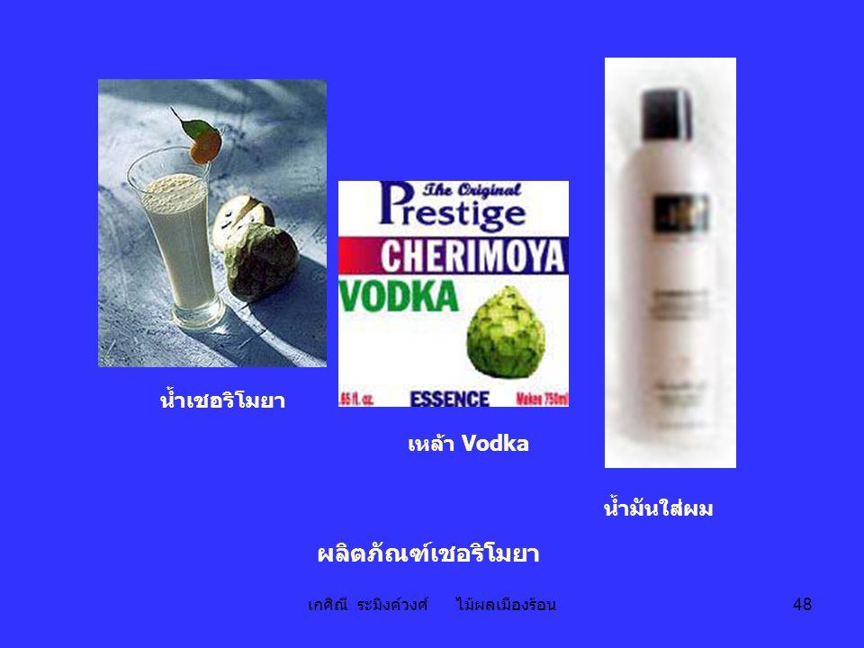 เกศิณี ระมิงค์วงศ์ ไม้ผลเมืองร้อน 48 น้ำเชอริโมยา น้ำมันใส่ผม เหล้า Vodka ผลิตภัณฑ์เชอริโมยา