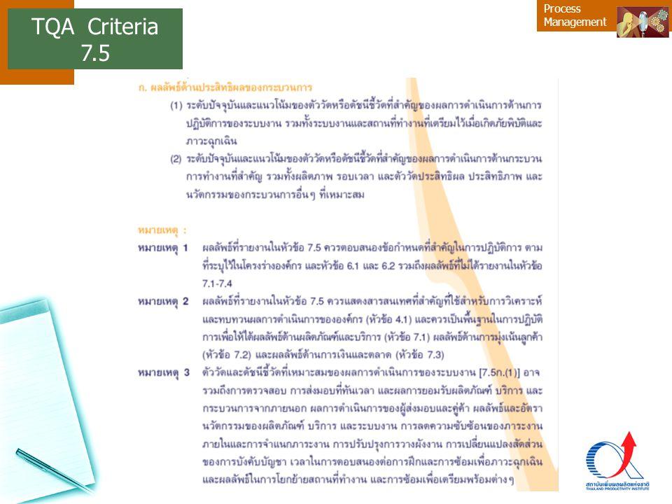 Process Management TQA Criteria 7.5