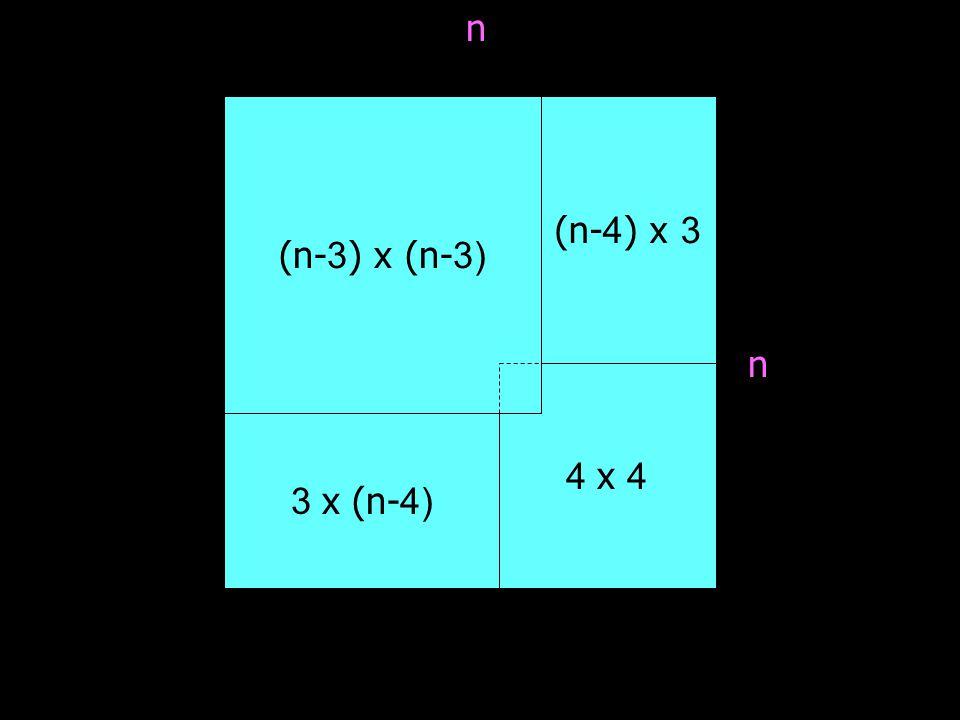 พิจารณาในกรณีที่ n เป็นเลขคู่, n > 8 และ 3 ł n จาก n เป็นเลขคู่  (n-3) เป็นเลขคี่ จาก n > 8  (n-3) 5 จาก 3 n  3 (n-3) ดังนั้น จาก Theorem 1 ; deficient (n-3) x (n-3) board สามารถวางได้พอดี