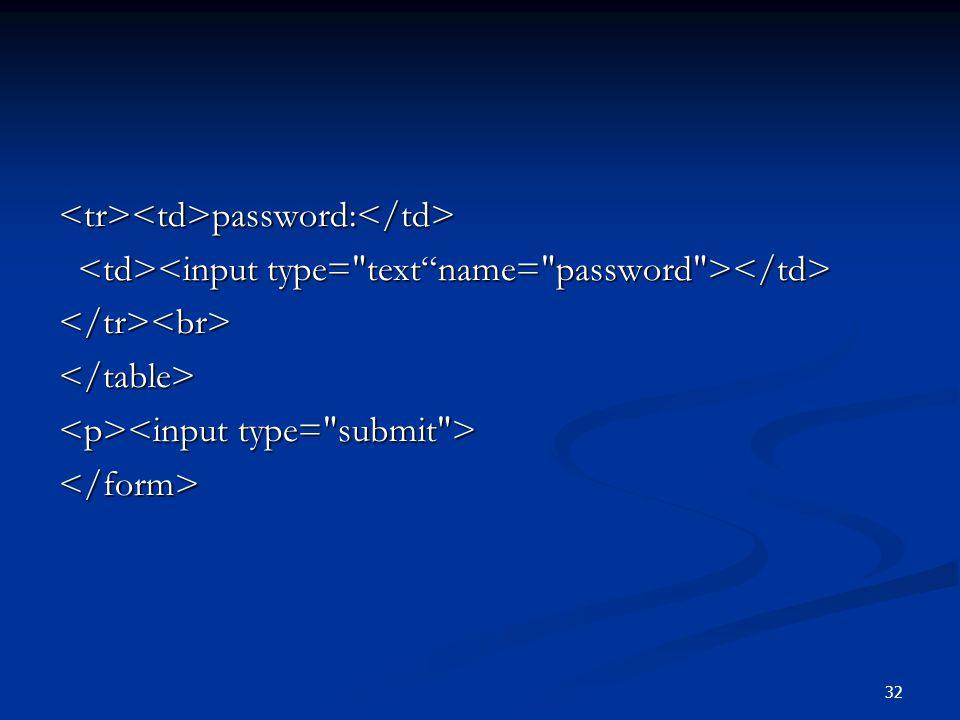 32 password: password: