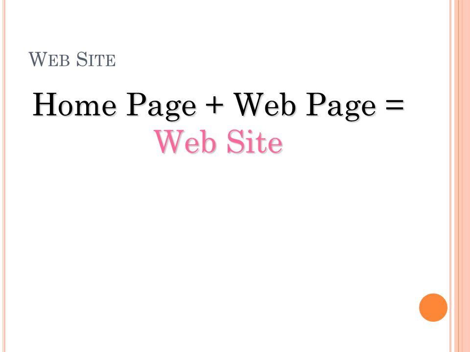 "W EB P AGE "" เว็บ เพจ "" ไม่ว่าหน้าไหนที่ไม่ใช่หน้าแรกของเว็บไซต์จะเรียกว่า "" เว็บ เพจ "" "" เว็บเพจ "" แต่ โฮมเพจจะเรียกว่า "" เว็บเพจ "" ก็ได้ เพราะโฮมเพจ"