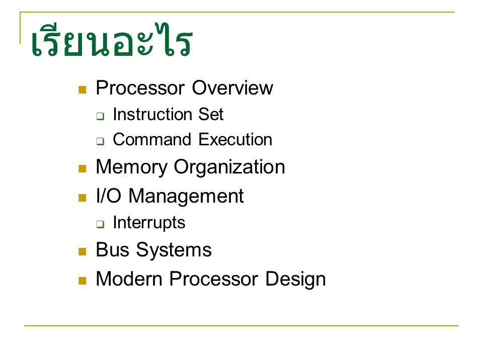 Case Studies Microchip PIC Micro-Controllers Intel x86 Processors