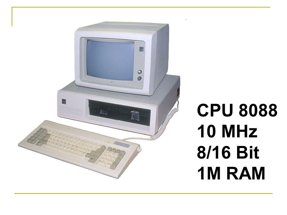 CPU 8088 10 MHz 8/16 Bit 1M RAM