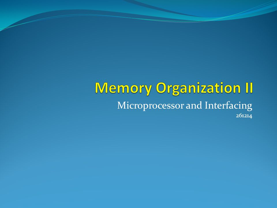 PIC Flash Memory Segments 2K 01012