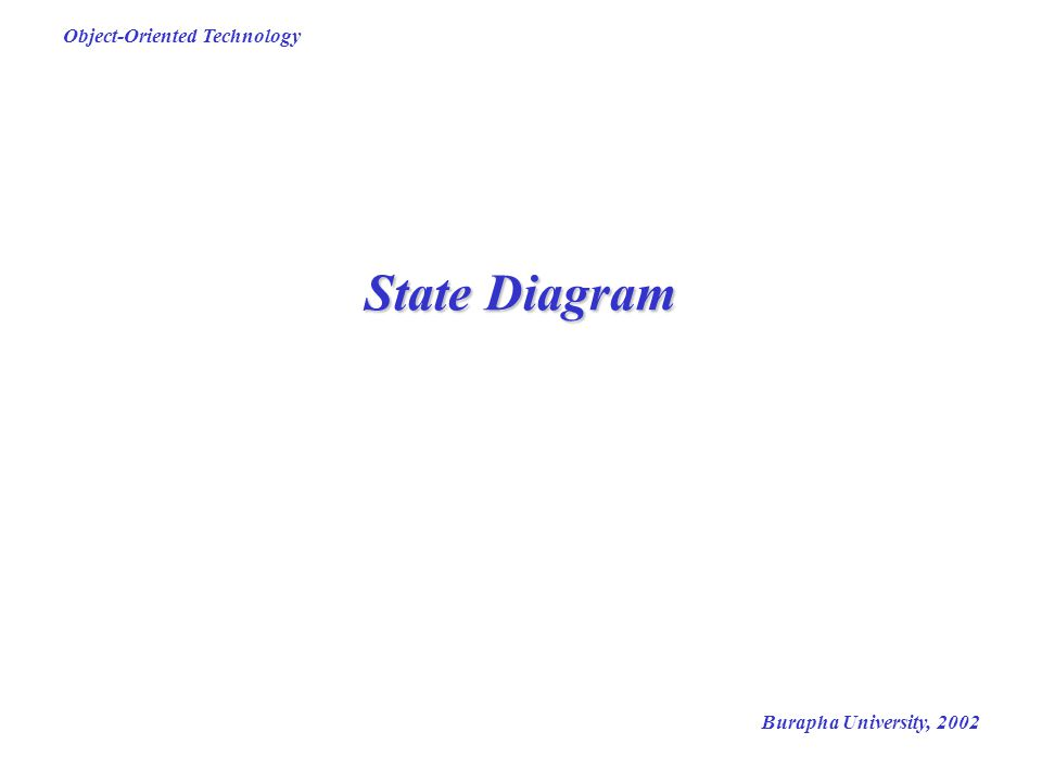 Burapha University, 2002 Object-Oriented Technology State Diagram