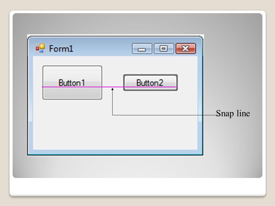 Aligning Controls Snap line