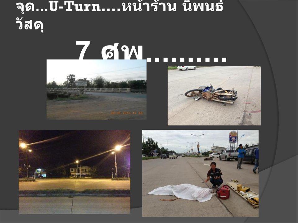 จุด...U-Turn…. หน้าร้าน นิพนธ์ วัสดุ 7 ศพ..........