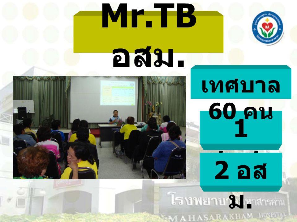 Mr.TB อสม. 1 ชุมชน 2 อส ม. เทศบาล 60 คน