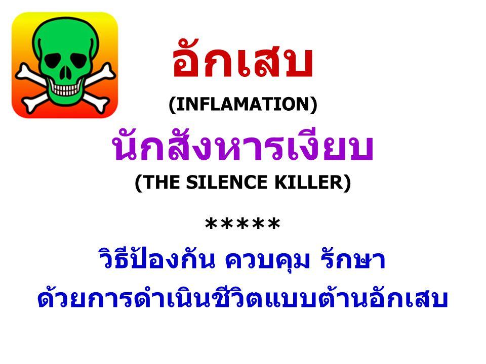 อักเสบ (INFLAMATION) นักสังหารเงียบ (THE SILENCE KILLER) ***** วิธีป้องกัน ควบคุม รักษา ด้วยการดำเนินชีวิตแบบต้านอักเสบ