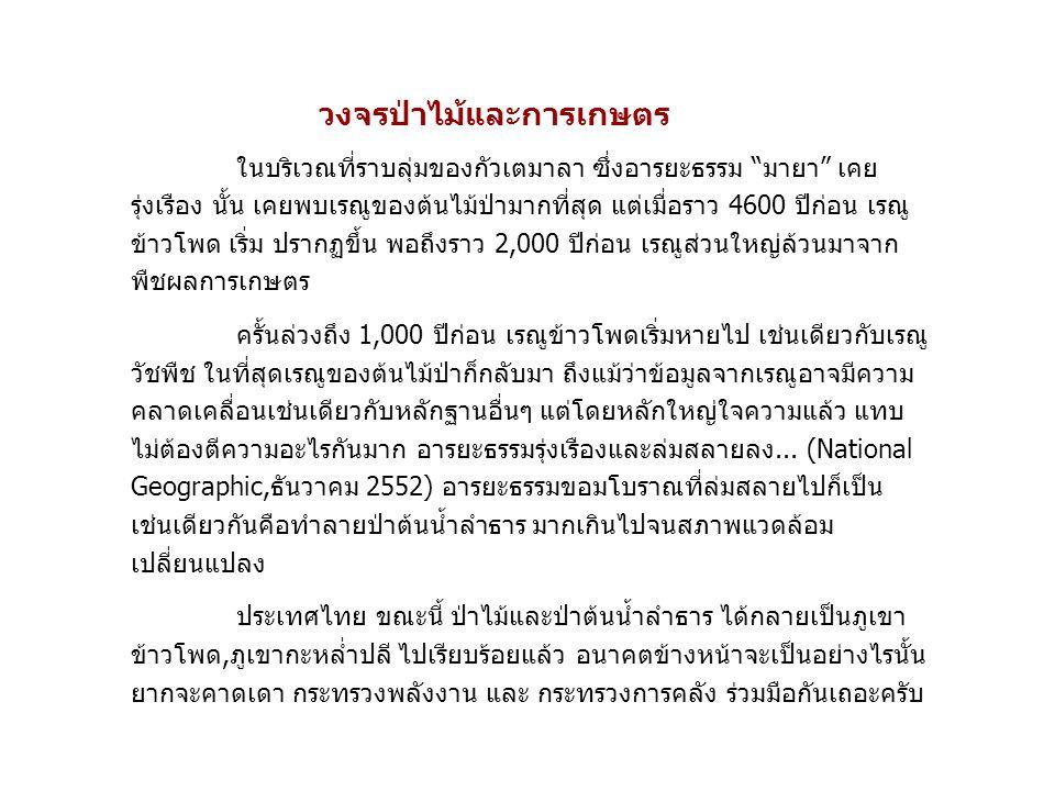 ข้อมูลพื้นฐานเศรษฐกิจไทย จำนวนประชากรปี 2553 ประเทศไทยมีประชากรรวม 67.4 ล้านคน ชาย 33.1 ล้านคน หญิง 34.3 ล้านคน โครงสร้างระบบเศรษฐกิจไทยปี 2553 ภาคเศรษฐกิจสัดส่วนต่อ GDP(%) สัดส่วนต่อกำลัง แรงงาน (%) เกษตร8.343.3 อุตสาหกรรม40.013.0 การค้าส่ง ค้าปลีก13.315.1 ก่อสร้างและเหมือง แร่ 4.44.8 บริการอื่นๆ*33.223.9 * บริการอื่นๆ รวมถึง ภาคการเงิน การศึกษา โรงแรมและภัตตาคาร เป็นต้น ที่มา: สำนักงานคณะกรรมการพัฒนาการเศรษฐกิจและสังคมแห่งชาติ และ สำนักงานสถิติแห่งชาติ คนไทย 43% มีสัดส่วน รายได้ในภาคเศรษฐกิจ GDPเพียง 8.3% ซึ่งถ้า GDP ภาคเกษตรไม่ ขยายตัว 10% ก็จะเกิด คนจนมากขึ้นเรื่อยๆ
