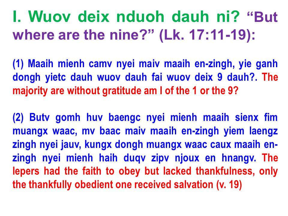 (3) Naa^mbaan dorh orqv nyei winh longx.Nabal evil for good (1 Sam.