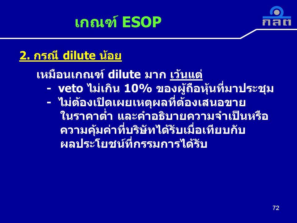 เกณฑ์ ESOP 72 2.