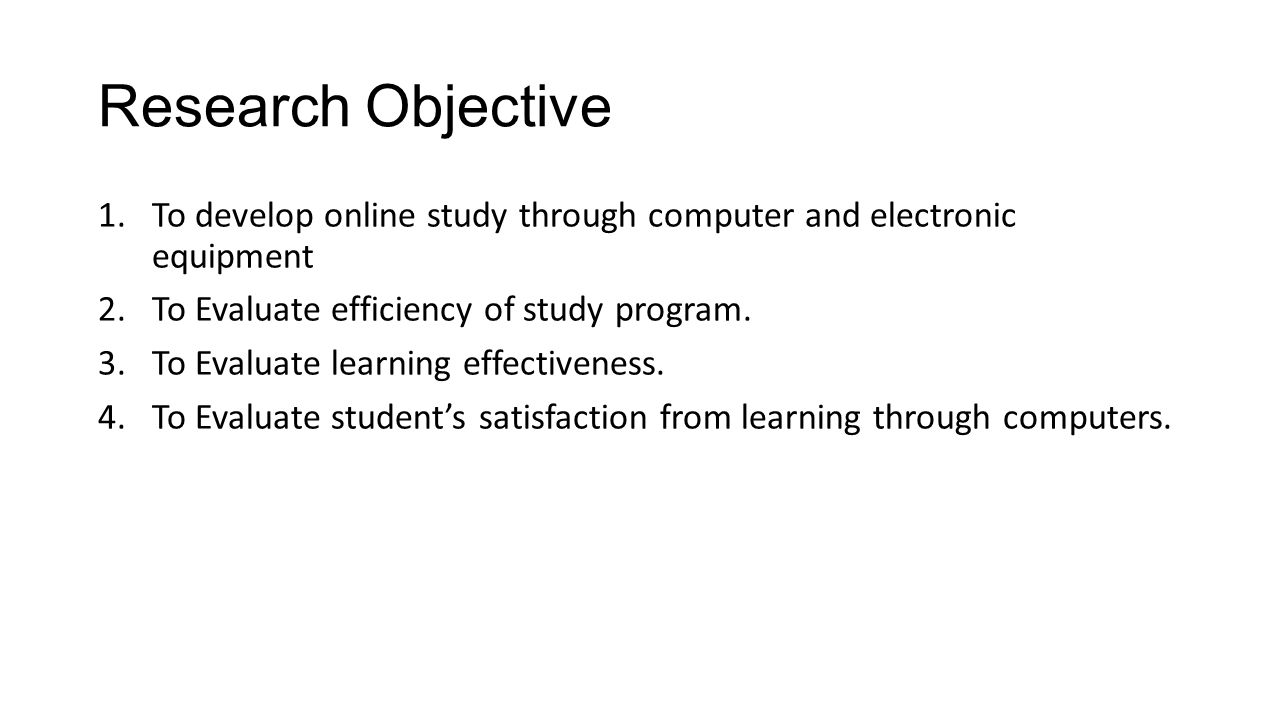 Research Methodology (cont.) To example module presentation chart (part 2)