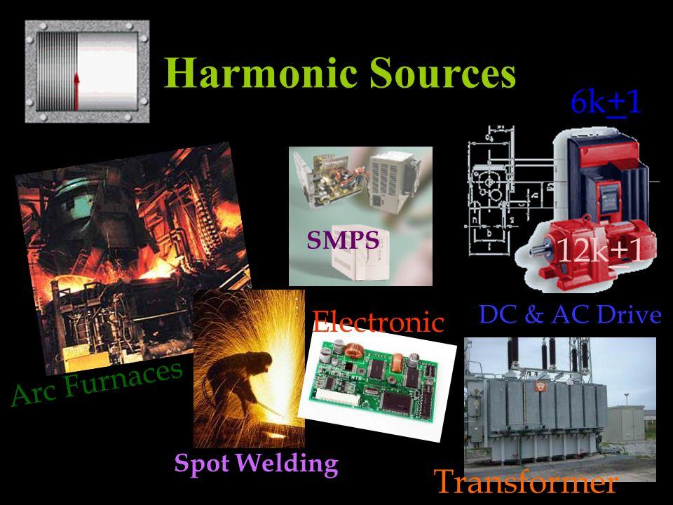 Harmonic Sources Arc Furnaces Spot Welding DC & AC Drive Transformer SMPS Electronic 6k+1 12k+1