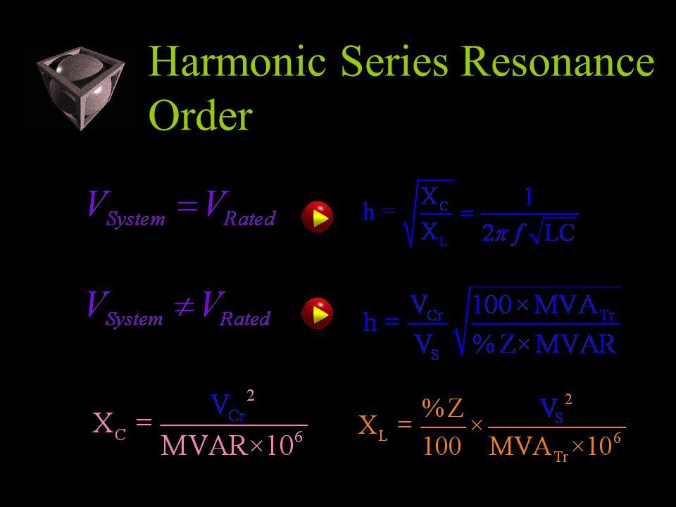 Harmonic Series Resonance Order