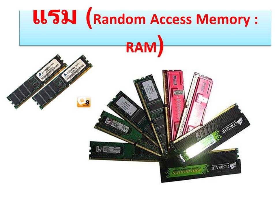 แรม ( Random Access Memory : RAM )